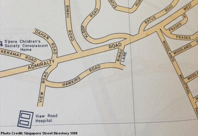 map of view road hospital 1988