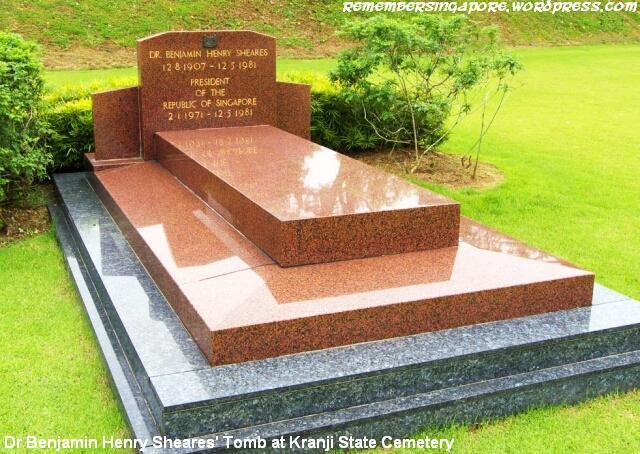 benjamin henry sheares tomb at kranji cemetery