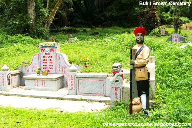 bukit brown cemetery sikh statue