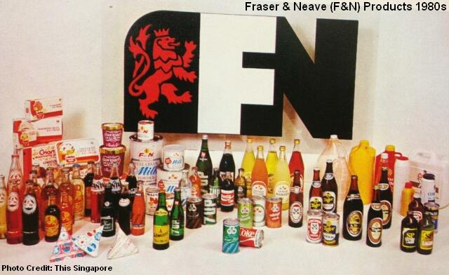 fraser & neave products 1980s