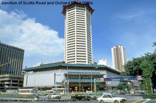 junction of scotts road and orchard road 1980s