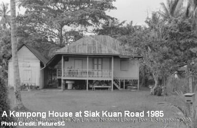 kampong house at siak kuan road 1985