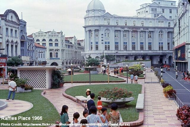 raffles place 1966