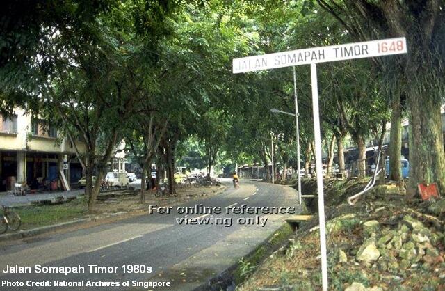 jalan somapah timor 1980s