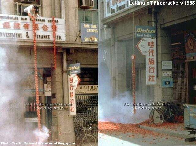 letting off firecrackers 1968