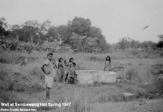 sembawang hot spring well 1947