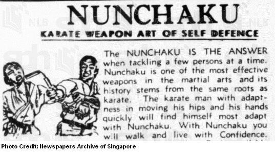 nunchaku advert 1973