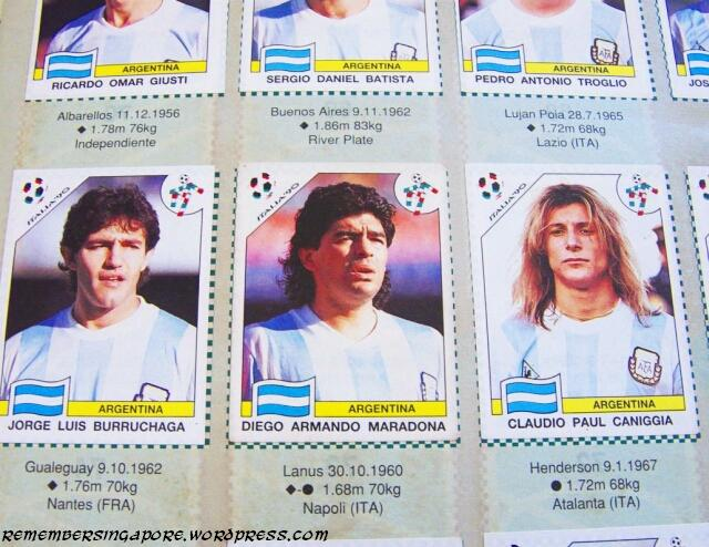panini world cup italia 90 argentina
