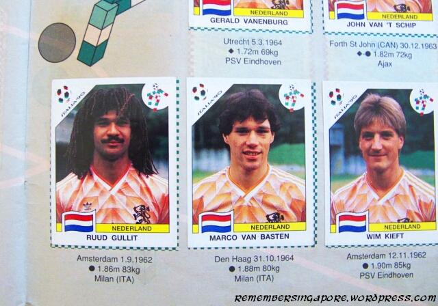 panini world cup italia 90 holland