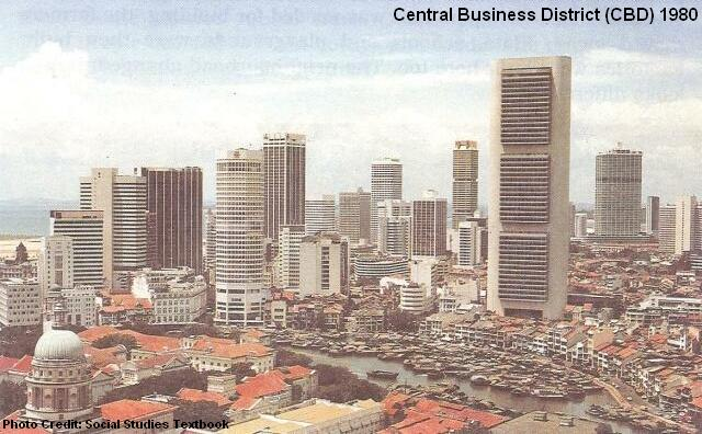 central business district 1980