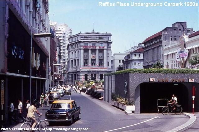 raffles place underground carpark 1960s