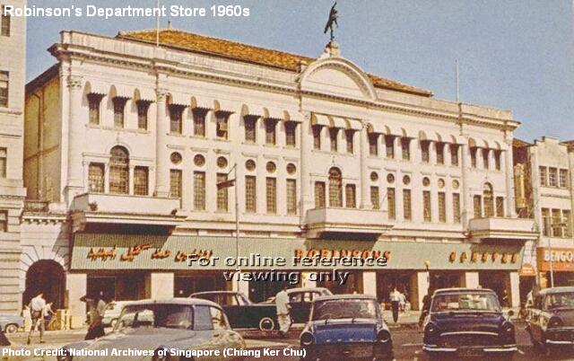 robinsons department store 1960s
