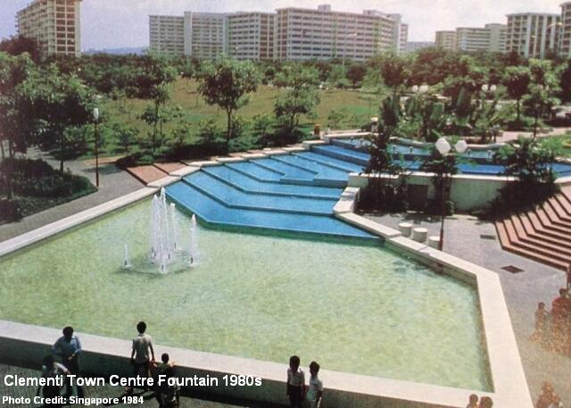 clementi town centre fountain2 1980s
