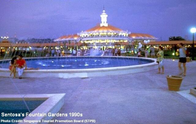 sentosa fountain gardens 1990s