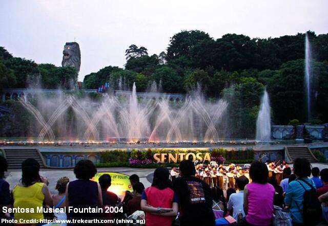 sentosa musical fountain 2004