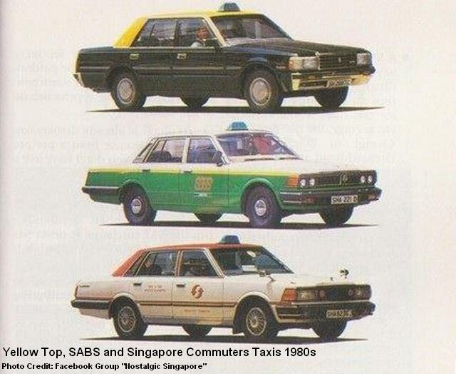 singapore taxis 1980s