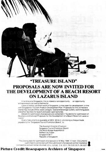 development of lazarus island 1988