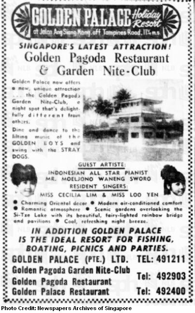 golden palace resort advertisement 1969