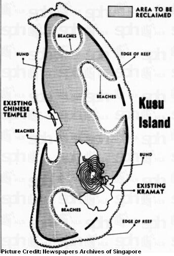 kusu island reclaimation 1974