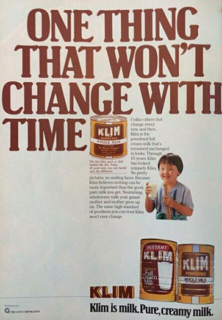 klim milk advert 1985