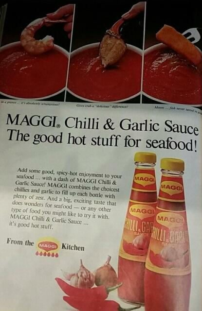 maggie chilli sauce advert 1980