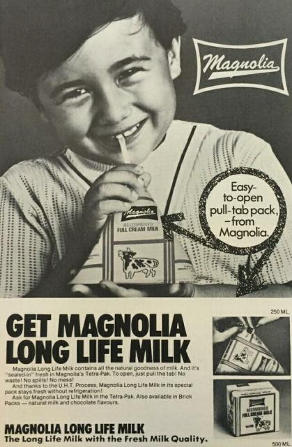 magnolia milk advert 1975