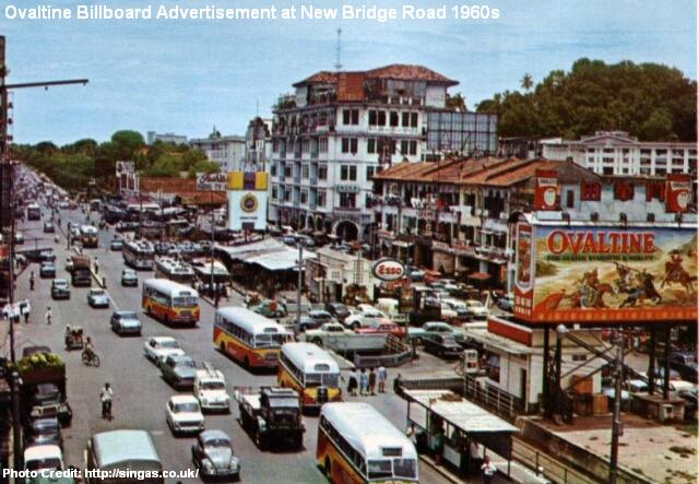 ovaltine advert at new bridge road 1960s