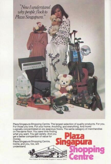 plaza singapura advert 1978