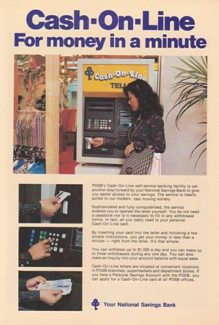 posb cash on line advert 1979