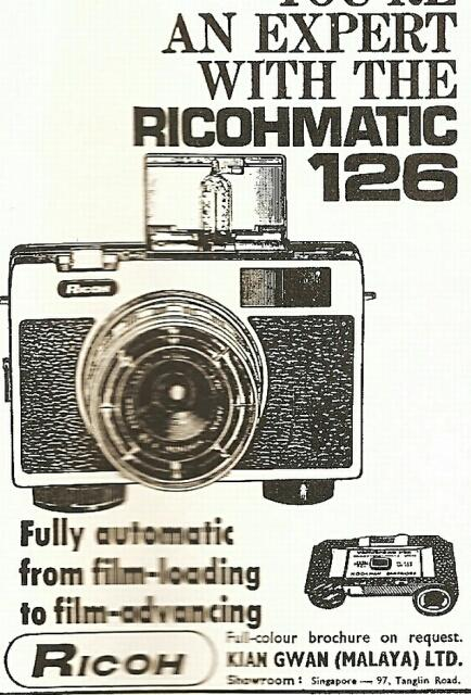 ricoh camera advert 1960s