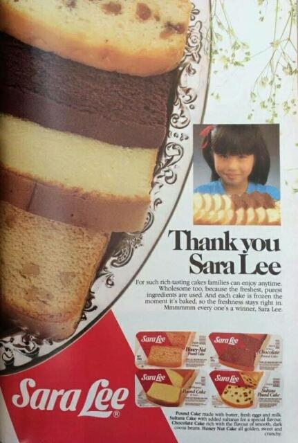 sara lee cake advert 1985