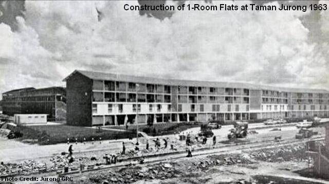 construction of 1-room flats at taman jurong 1963
