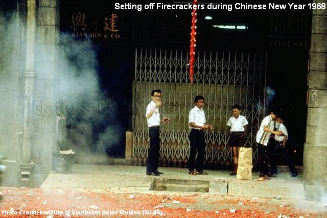 firecrackers during chinese new year 1968