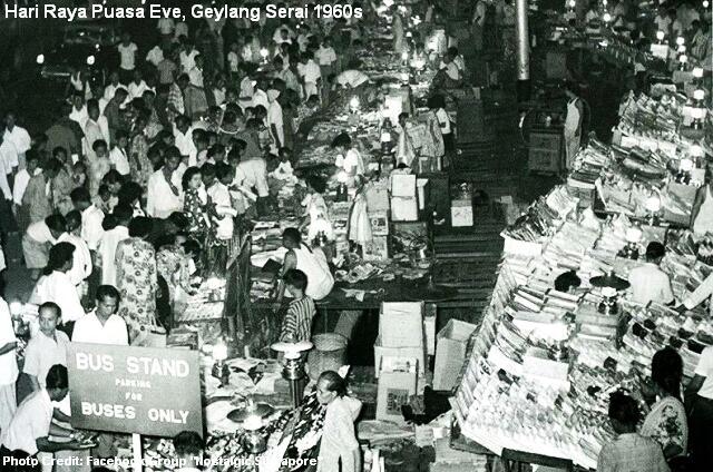 hari raya puasa eve at geylang serai 1961