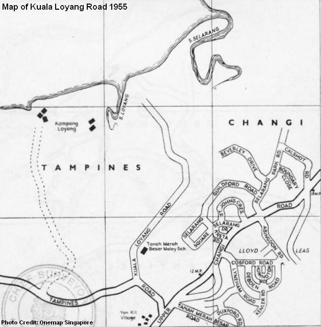 kuala loyang road 1955