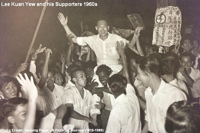lee kuan yew and his supporters 1960s