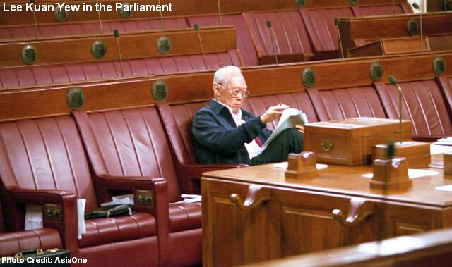 lee kuan yew in parliament