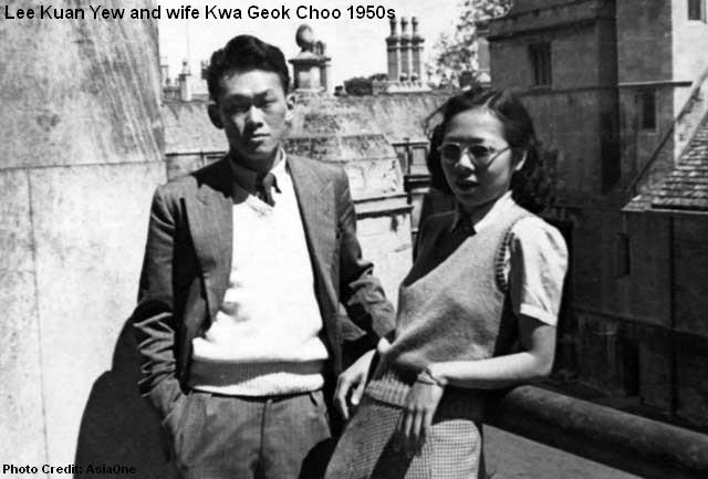 lee kuan yew met wife 1950s