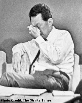 lee kuan yew tears 1965