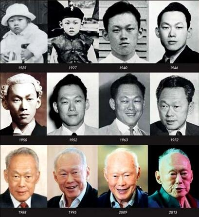 lee kuan yew through the years