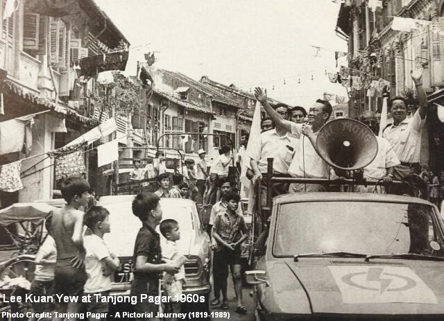 lee kuan yew touring tanjong pagar 1960s
