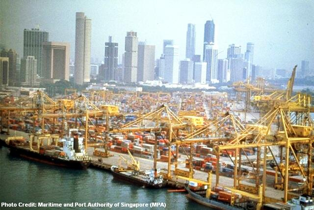 sg50 1997 tanjong pagar container terminal