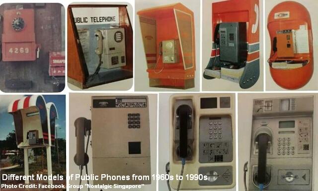 public phones 1960s to 1990s