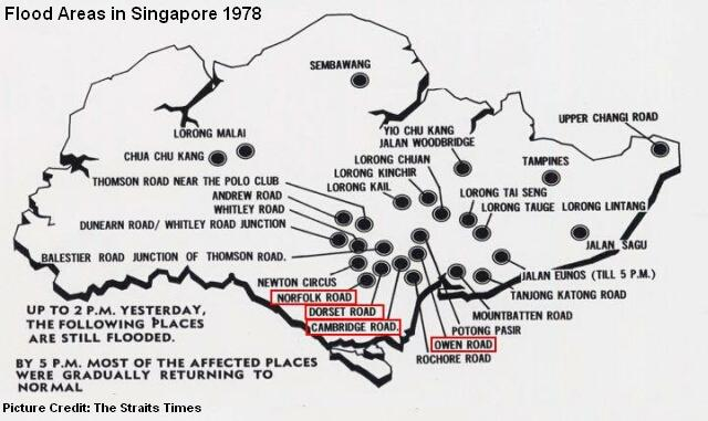 flooded areas in singapore 1978