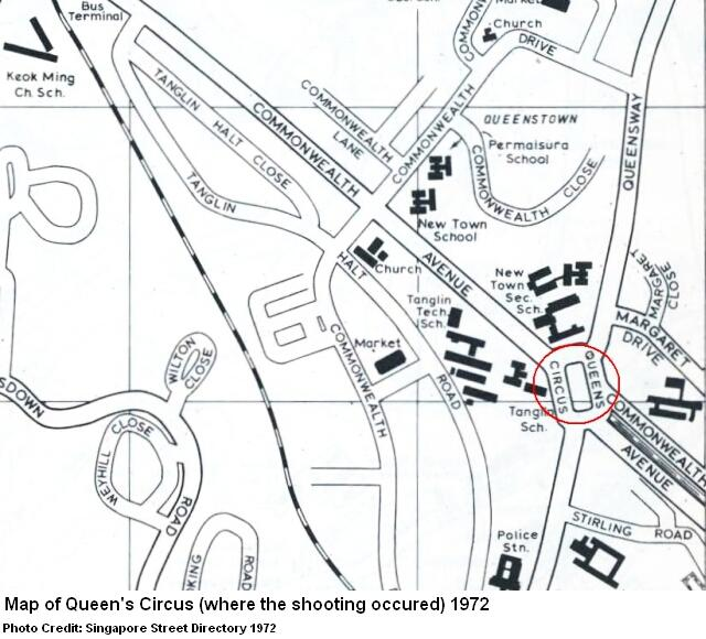 map of queen's circus 1972