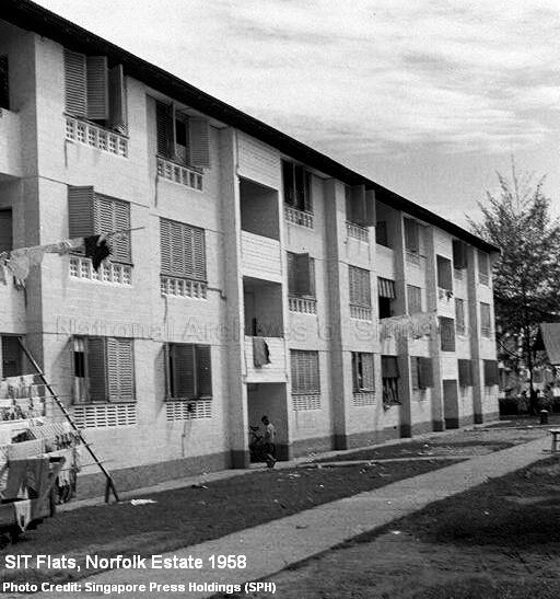 sit flats at norfolk road 1958