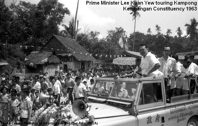 lee kuan yew toured kampong kembangan constituency1 1963