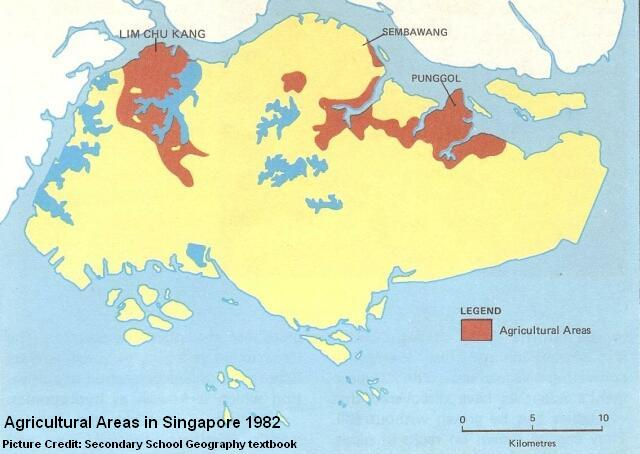 singapore agriculture areas 1982