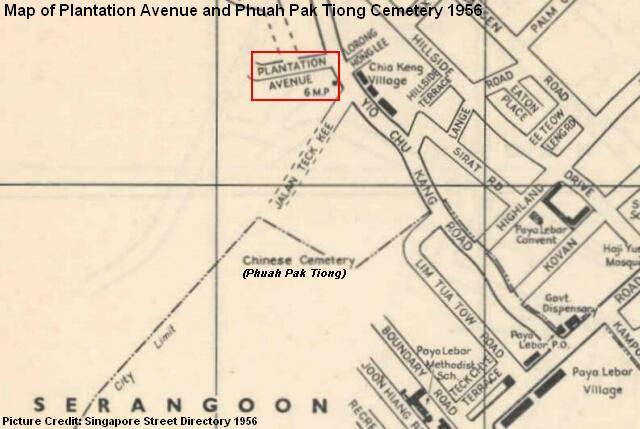 plantation avenue phuah pak tiong cemetery map 1956