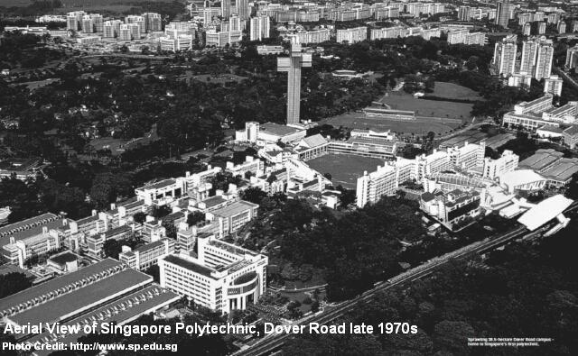 singapore polytechnic dover road aerial view late 1970s